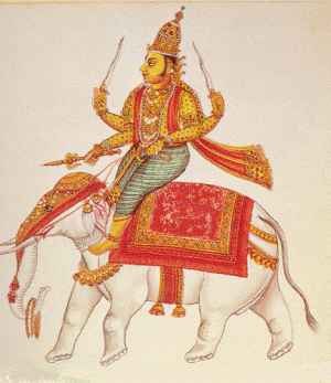 Indra Hindu god of war and weather