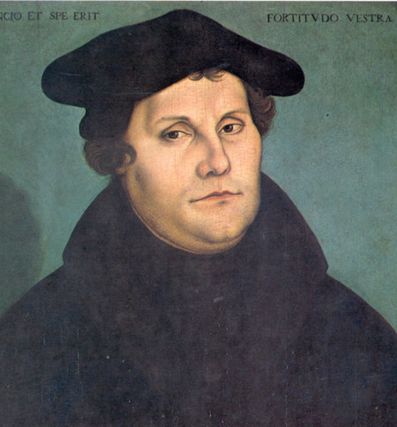 portrait of Martin Luther