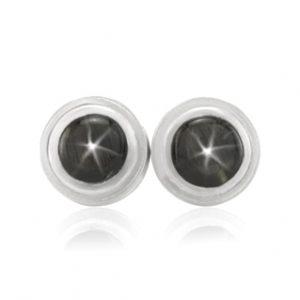 black star sapphire cufflinks