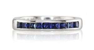 blue sapphire channel set band