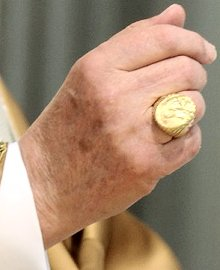 Pope Benedict papal ring