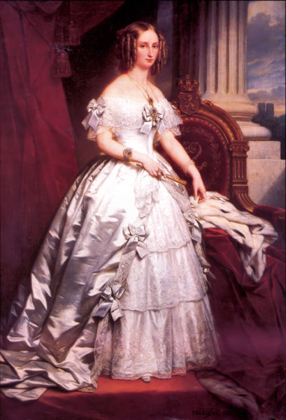 Queen Louise-Marie painting
