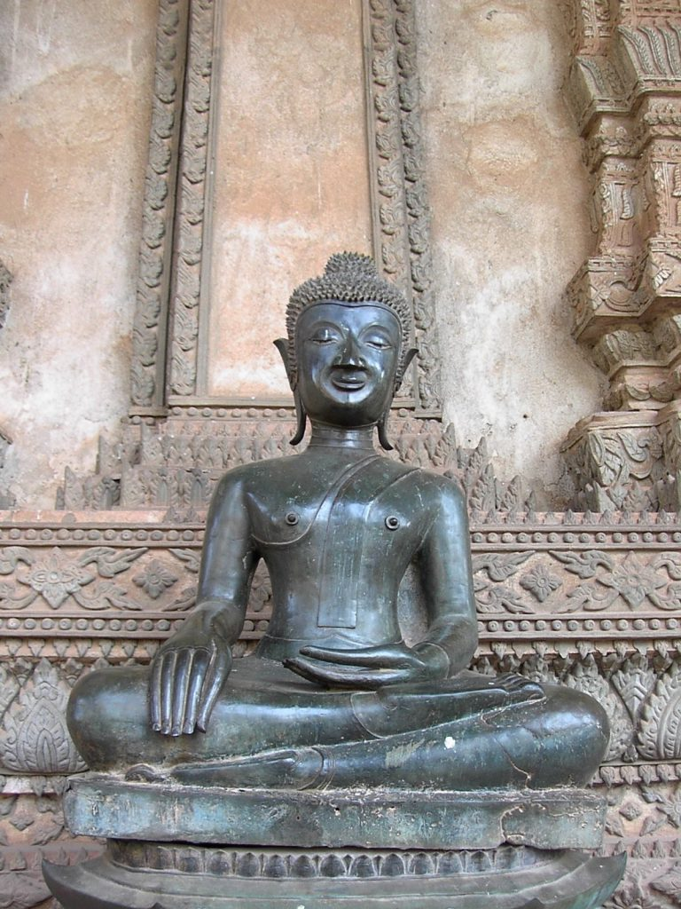 statue of Buddha in Laos