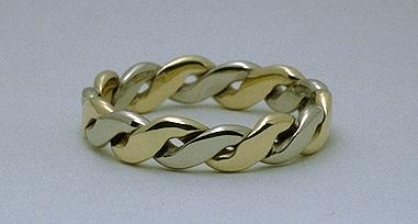 two tone metal band ring