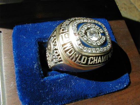 Walter Peyton's Super Bowl ring
