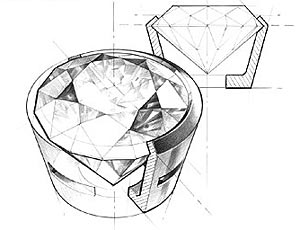 bezel setting drawing