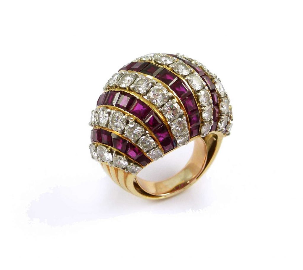 Cartier ruby bombe ring