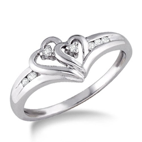 promise ring two hearts