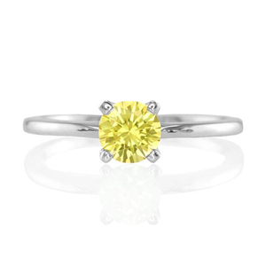 yellow sapphire solitaire setting