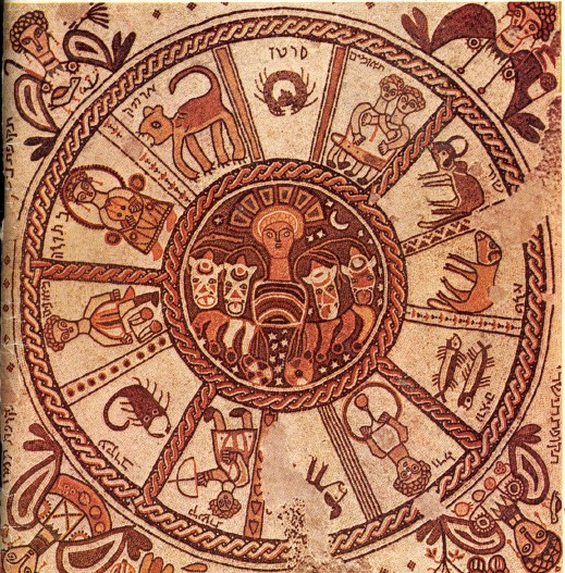 6th century zodiac wheel