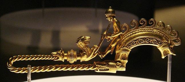 gold braganza fibula brooch