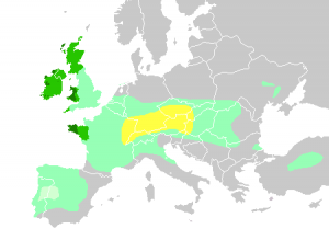 map of Celtic areas in Europe