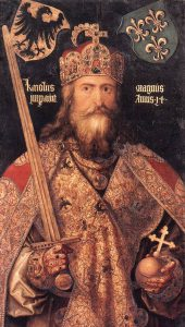 portrait of Charlemagne with amulet
