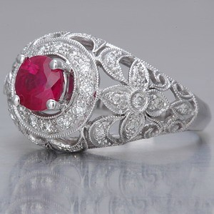 Edwardian ruby engagement ring