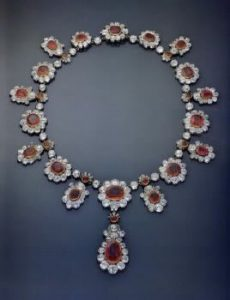 marie-louise ruby diamond necklace