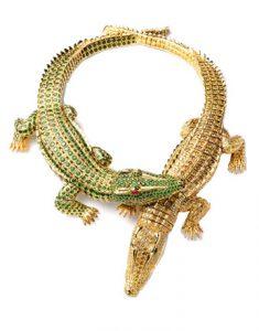 Maria Felix crocodile necklace