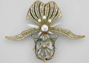 Fouquet orchid brooch