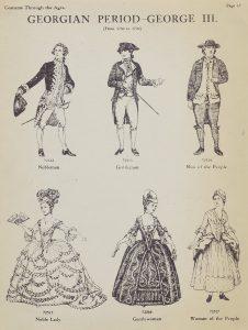 Georgian period clothing