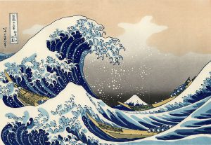 Hokusai Great Wave woodcut