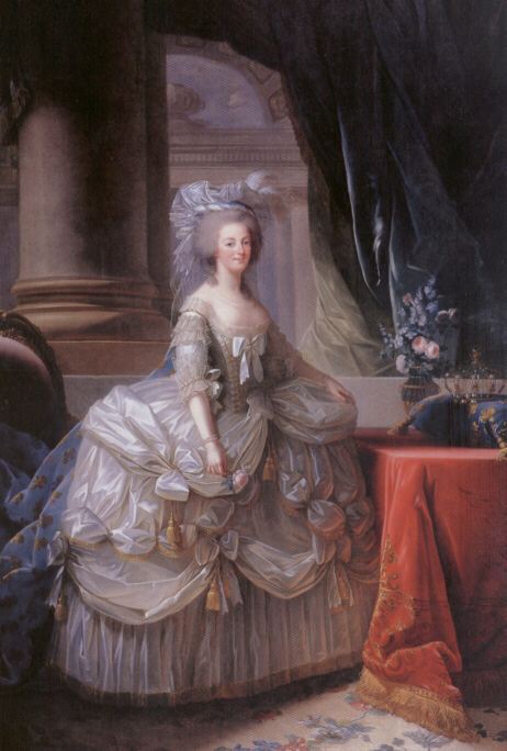 Marie Antoinette with rose painting