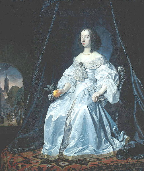 Mary of Orange wearing a brooch
