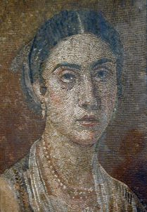 Pompeii mosaic showing jewelry