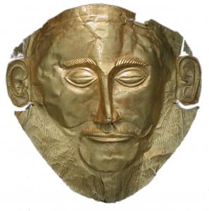 Mycenaean funerary gold mask
