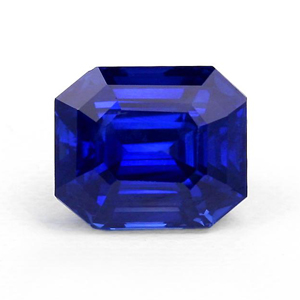 blue emerald cut sapphire