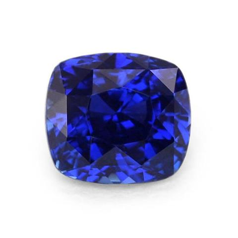 cushion blue sapphire gemstone