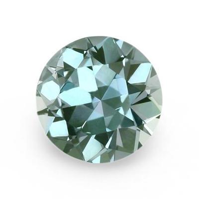 greenish blue round sapphire