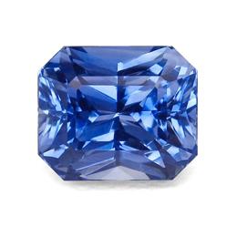 blue radiant cut sapphire