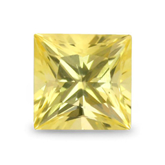 yellow princess cut sapphire