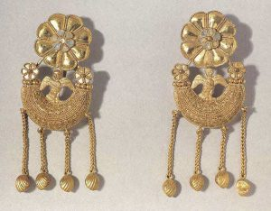 pair of Greek earrings