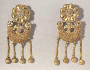 pair of Greek earrings