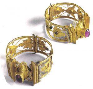 Greek bracelets with gemstones