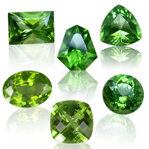 peridot gemstone colors