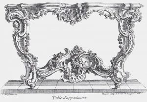 Rococo table drawing