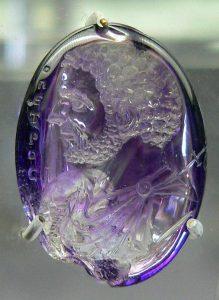 Roman amethyst intaglio pendant