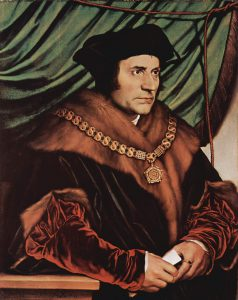 Sir Thomas More wearing necklace