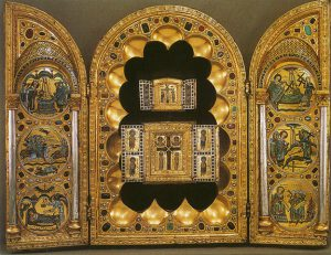 Stavelot triptych with gems