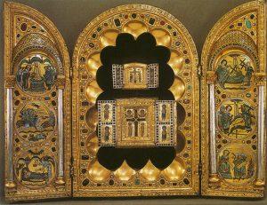 Stavelot triptych with gems