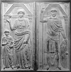 Serena and Stilicho carving