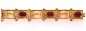 Victorian gold scarab bracelet