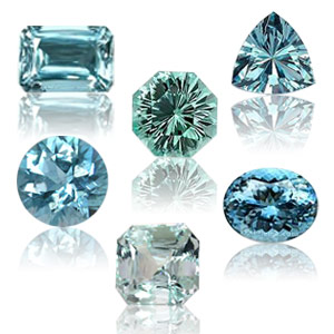 colors cuts aquamarine gemstones