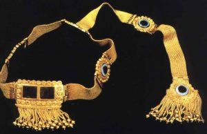 assyrian gold diadem