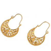 byzantine style crescent earrings