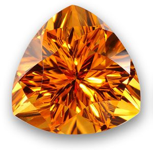 trillion cut citrine gemstone