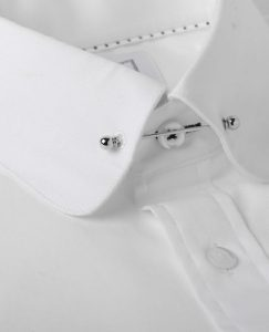 silver collar pin