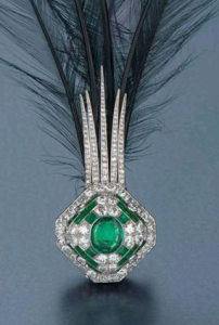 diamond and emerald aigrette