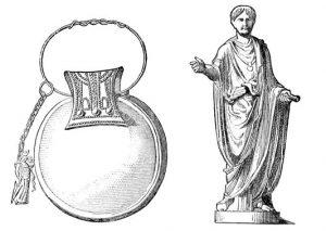 roman bulla drawing